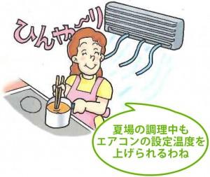 鍋まわりが熱くなりにくいから快適