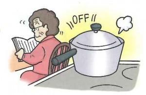 タイマー調理で余分な加熱をストップ